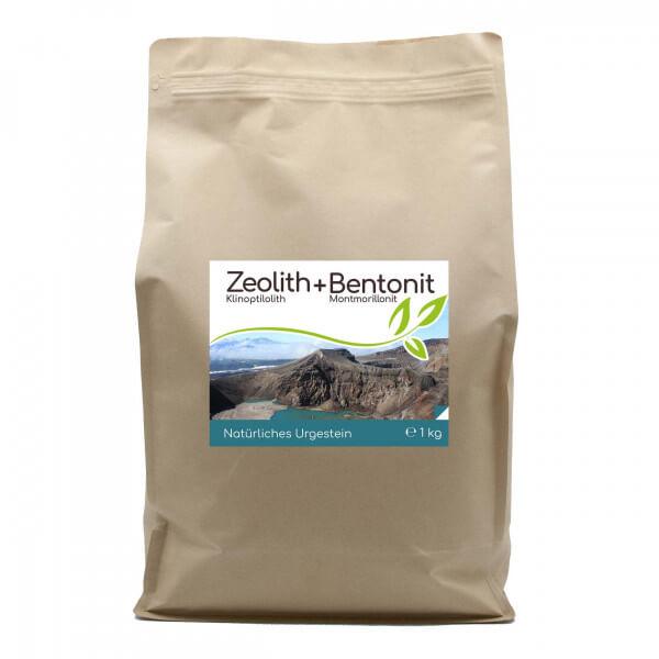 Premium Zeolith + Bentonit 1kg Pulver im Vorratsbeutel
