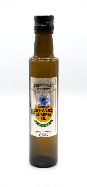 Saatengold® premium Bio-Schwarzkümmelöl kalt gepresst, unfiltriert, naturrein 250ml