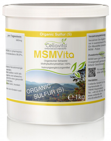 MSM - Organischer Schwefel 16-Monatsvorrat -- 1000g