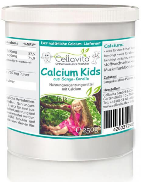 Calcium kids (natürlicher Calcium Lieferant) für Kinder - 250g Pulver