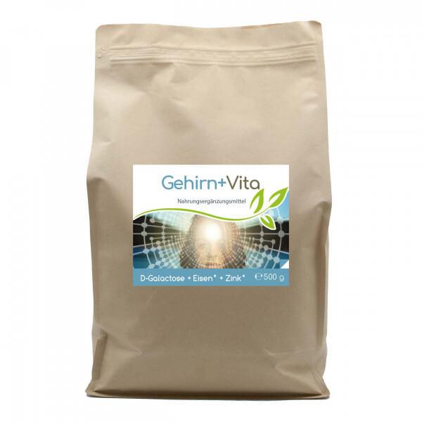 Gehirn+ Vita 500g Vorratsbeutel (mit D-Galactose, Eisen & Zink)