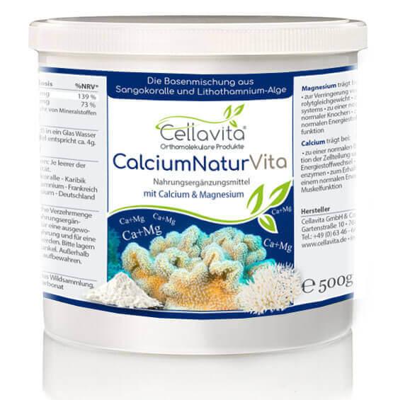 Calcium Natur Vita - 4-Monatsvorrat - 500g