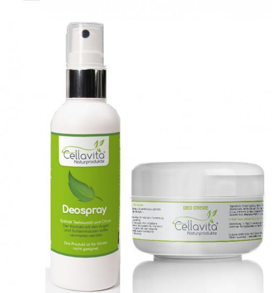 CELLAVITA DEO SET Creme 50ml + Spray 100ml (natürliches Deodorant)