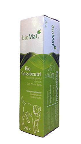 BIOMAT BIO Gassibeutel (Kotbeutel) Biologisch abbaubar 20 Stück / Rolle