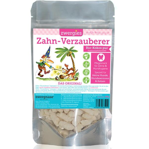 """Zwergnase Zahn-Verzauberer """"Zwergies"""" Pflegesnack für kleine Hunde & Katzen, 90g"""