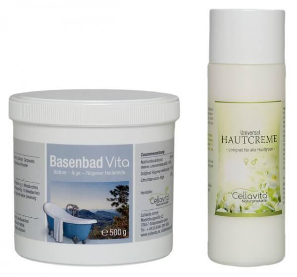 Basenbad Vita Set (500g Basenbad + 200 ml Universal Hautcreme)