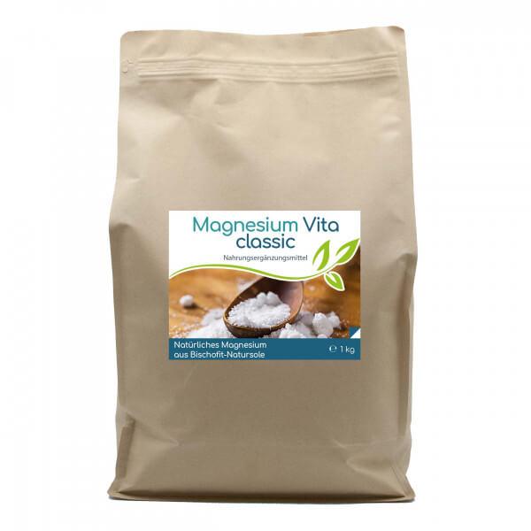Magnesium Vita 'classic' (100%) - 1kg Vorratsbeutel