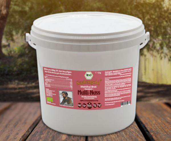 Mehlfreibrot Multi-Nuss -Ganzkorn- Bio Brotbackmischung 6 kg (Vorteilspackung)