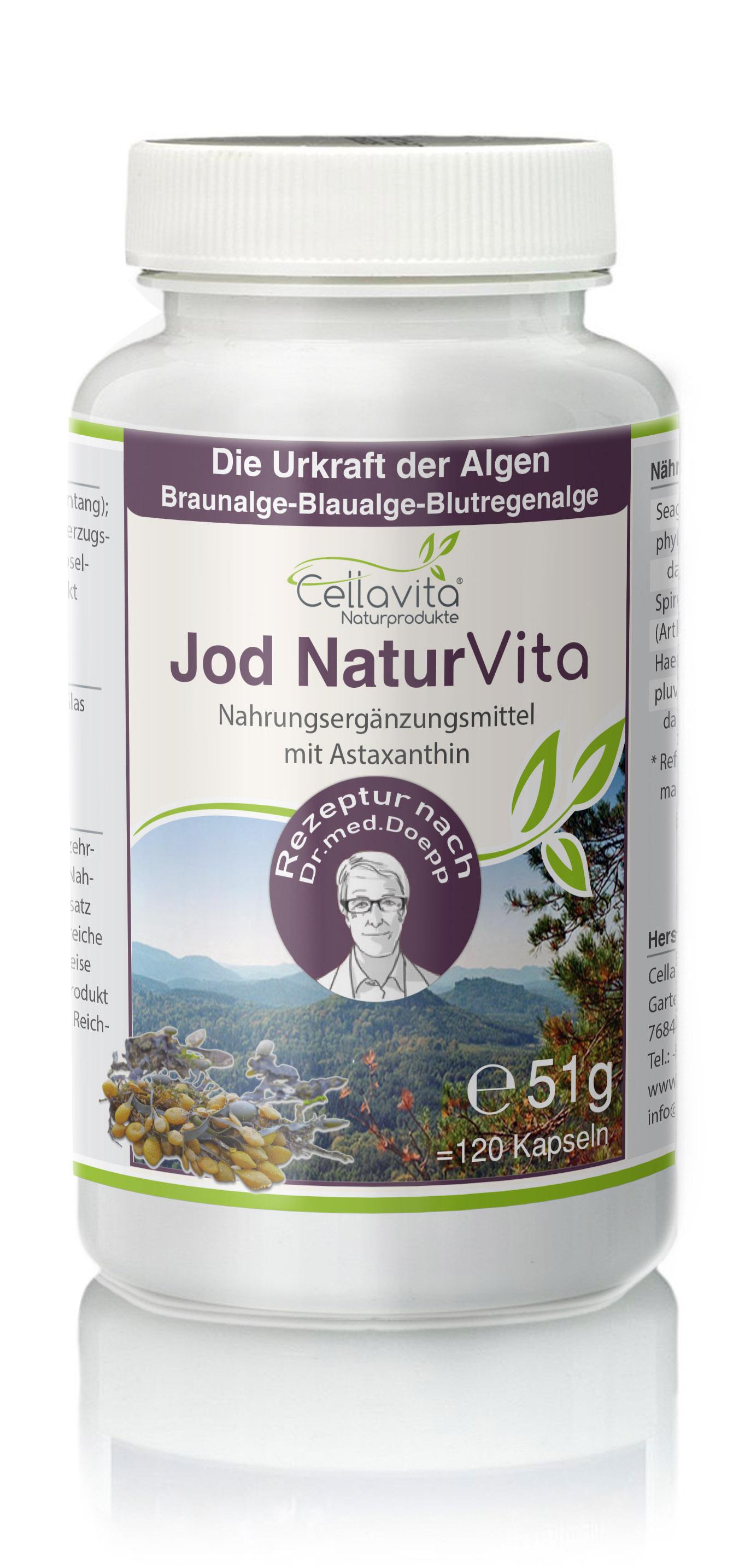 Jod Natur Vita 4 Monatsvorrat 120 Kapseln Rezeptur Nach Dr Med M Doepp