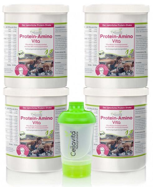 Protein-Amino Vita Vorteilspaket 4x900g | Rezeptur nach Dr. med. M. Doepp