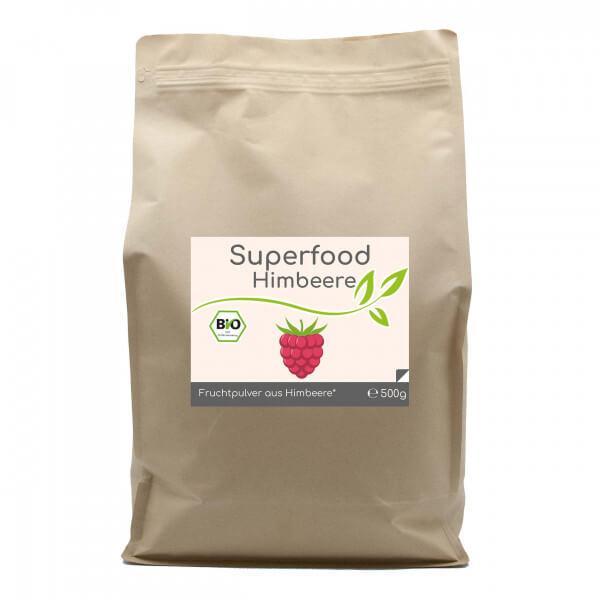 Superfood Himbeere bio Pulver 500g Vorratsbeutel
