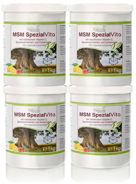 MSM Spezial Vita mit Vitamin C - Vorteilspaket 4 x 1kg