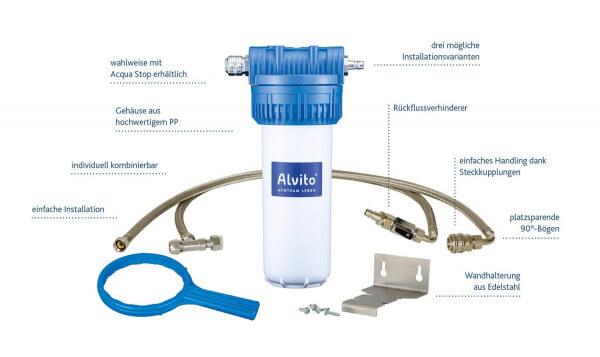 """Alvito EinbauFilter """"Variante B"""" für spezielle 3-Wege-Armatur"""