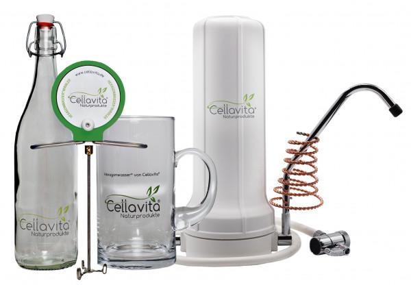 Alvito AuftischFilter Basic + Hexagonwasserwirbler Set + Quantotec®-Hochenergiespirale