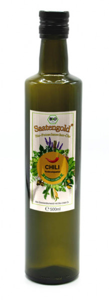 Saatengold-Bio-Feinschmecker-Öle Chili 500ml