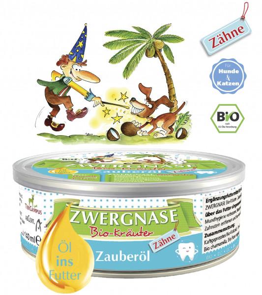 """Zwergnase Zauberöl """"Zähne"""" (natürlich-antibakterielles Zahnpflegeöl) für Hunde & Katzen BIO, 140ml"""