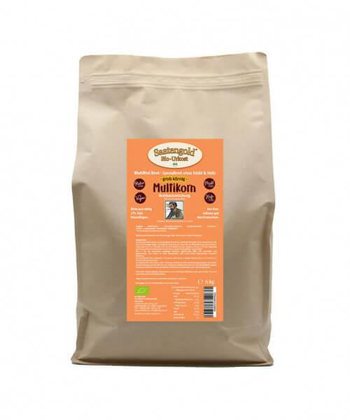 Mehlfreibrot Multikorn 'grob-körnig' Bio Brotbackmischung 6 kg