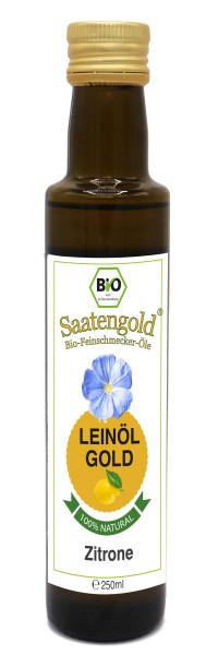 "Saatengold-Bio-Feinschmecker-Öle ""Leinöl Zitrone"" 250ml"