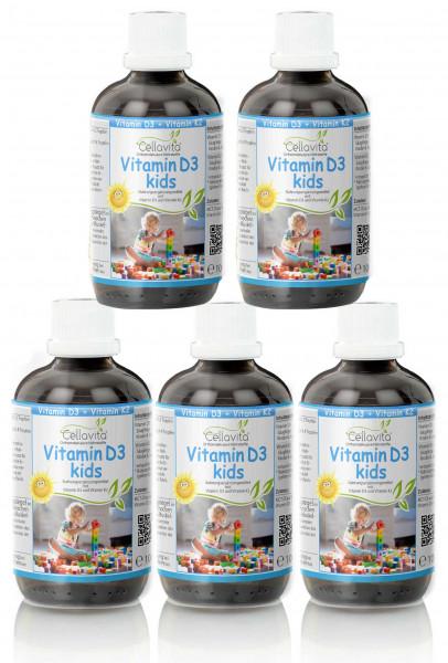 Vitamin D3 kids für Kinder 5 x 100ml