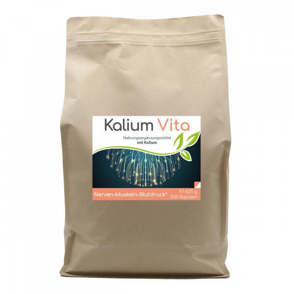 Kalium Vita (Nerven-Muskeln-Blutdruck) 500 Kapseln im Vorratsbeutel