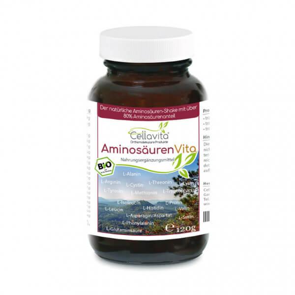 Bio Aminosäuren Vita (natürliche Aminosäuren & Proteine) 120g im Glas