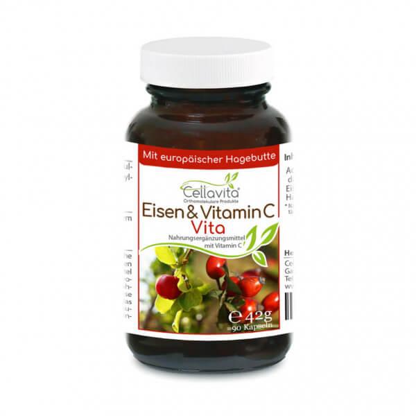 Eisen & Vitamin C Vita | 90 Kapseln im Glas
