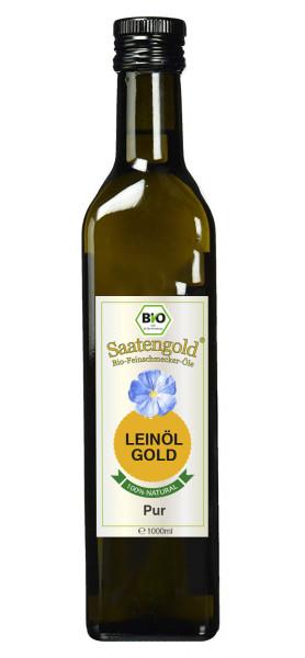 """Saatengold-Bio-Feinschmecker-Öle """"Leinöl Pur"""" 1000ml"""