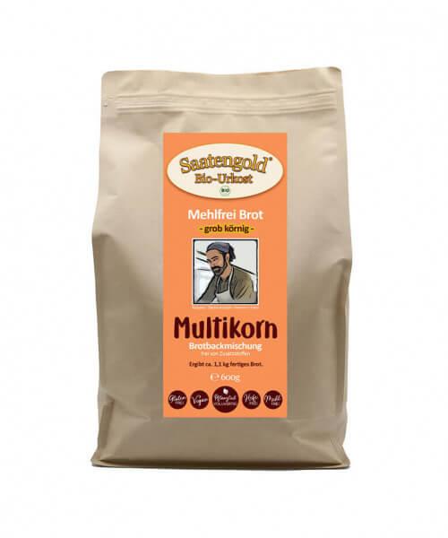 Mehlfreibrot Multikorn -grob körnig- Bio Brotbackmischung 600g
