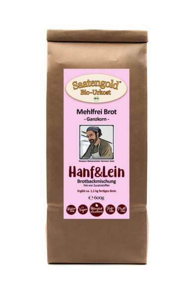 Mehlfreibrot Hanf & Lein -Ganzkorn- Bio Brotbackmischung 600g