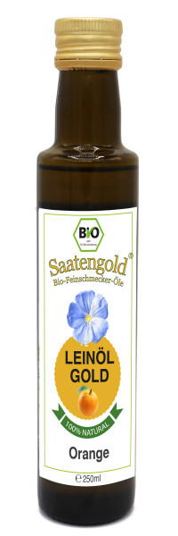 "Saatengold-Bio-Feinschmecker-Öle ""Leinöl Orange"" 250ml"