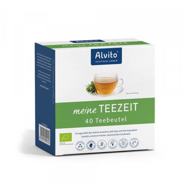 Alvito meine TeeZeit: 40 Teebeutel Bio-kontrolliert (Basischer Kräutertee)