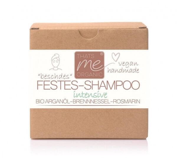 """Veganes festes Shampoo """"intensive"""" für zu fettige & schuppige Kopfhaut 40g Handmade"""