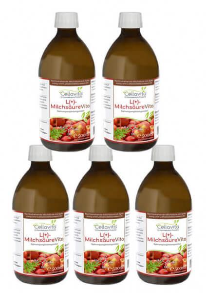 L(+)-MilchsäureVita Vorteilspaket 5 x 500 ml