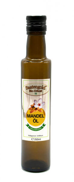 Saatengold® Bio-Mandelöl kalt gepresst, unfiltriert 250ml