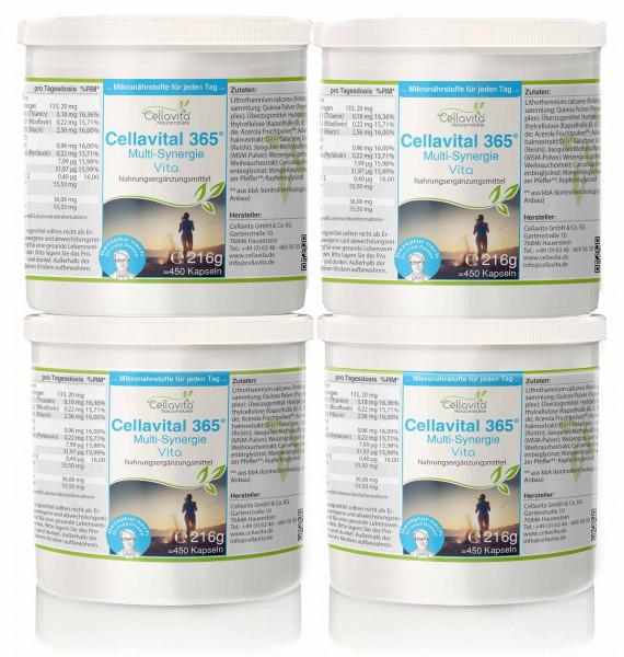 Cellavital 365 - Vorsorgepaket - 4 x 450 Kapseln | Rezeptur nach Dr. med. M. Doepp