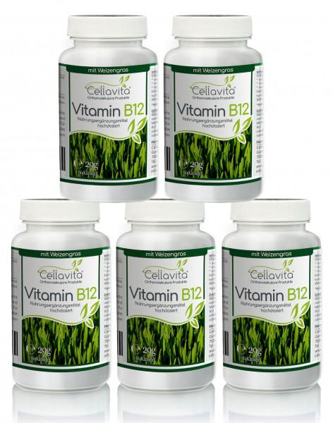 Vitamin B12 hochdosiert Vorteilspaket 5 x 60 Kapseln
