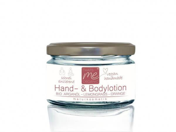 Vegane Hand & Body-Lotion Lemongrass - Orange 100ml - Naturkosmetik