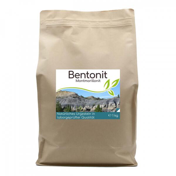 Premium Bentonit Montmorillonit 1kg Pulver im Vorratsbeutel