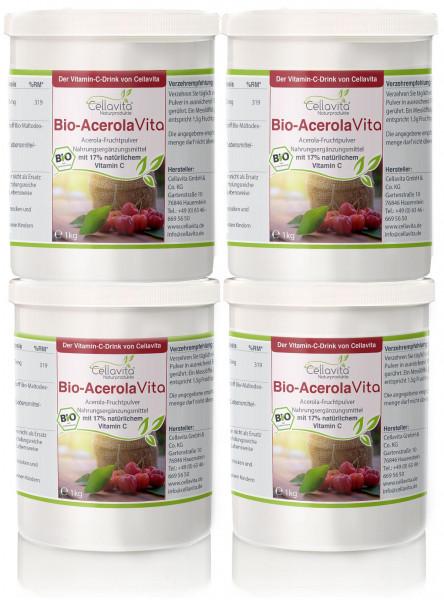 Acerola Vita (Der Vitamin-C-Drink) - Vorteilspaket - 4x 1000g