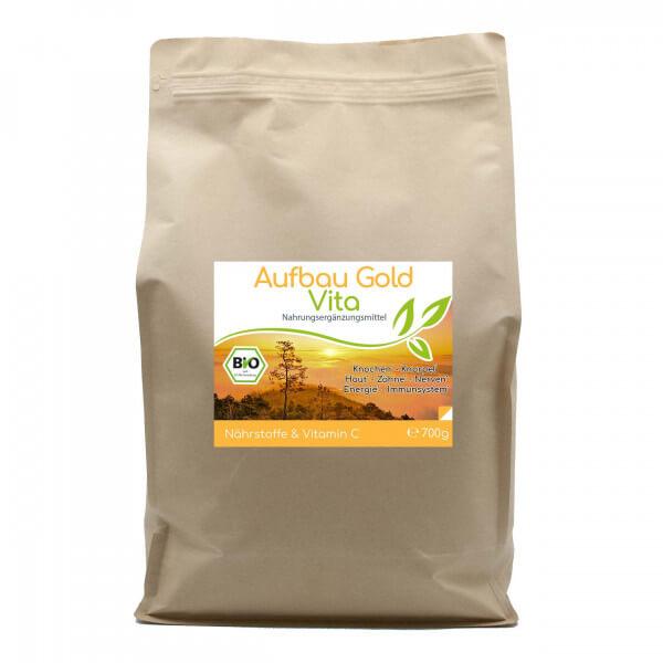 Aufbau-Gold Vita (Bio) Knochen Haut Zähne 700g Vorratsbeutel