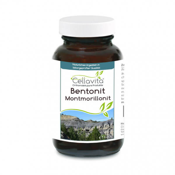 Premium Bentonit Montmorillonit 140g Pulver im Glas