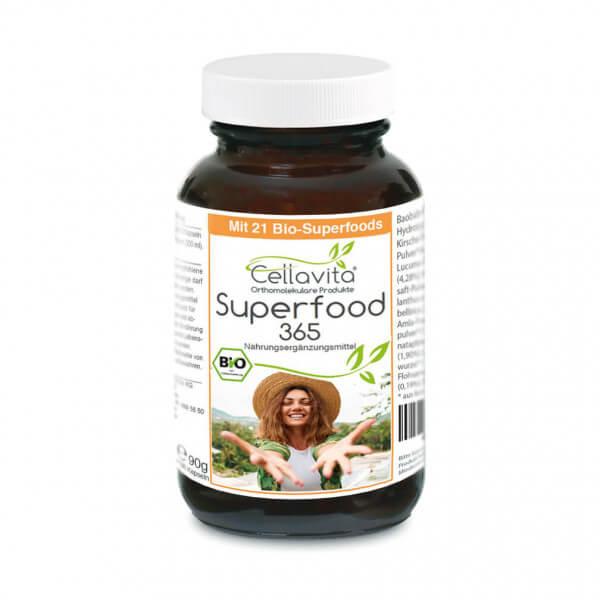 "Superfood 365 Bio ""Neue Rezeptur"" - mit 21 Bio-Superfoods - 150 Kapseln"