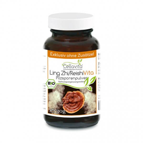 Ling Zhi / Reishi Pilzsporen Pulver (Exklusiv, reine Sporen vom Reishi-Pilz)  30g