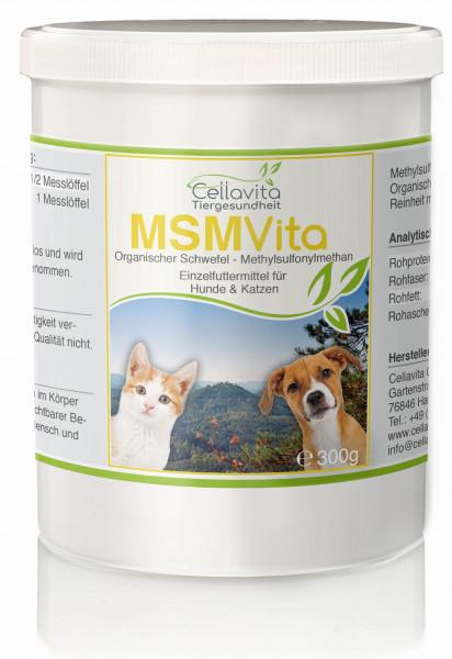 MSM - Organischer Schwefel - 300g für Hunde & Katze