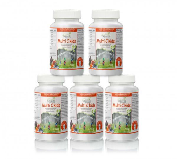 Multi C kids Vorteilspaket für Kinder 5 x 180 Tabletten | Rezeptur nach Dr. med. M. Doepp