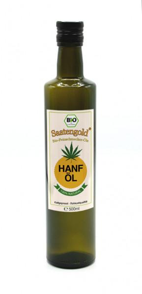Saatengold® Bio-Hanföl kalt gepresst, unfiltriert 500ml