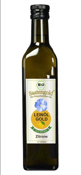 "Saatengold-Bio-Feinschmecker-Öle ""Leinöl Zitrone"" 1000ml"