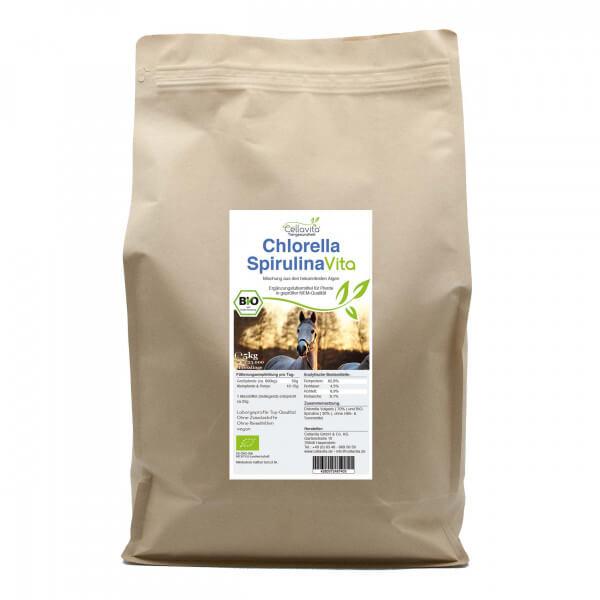 Bio-Chlorella-Spirulina für Pferde 5kg Vorratsbeutel