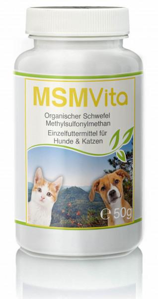 MSM - Organischer Schwefel - 50g für Hunde & Katze