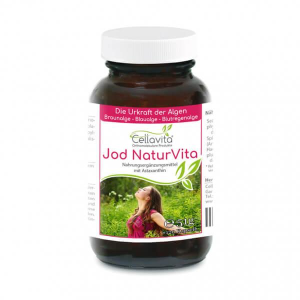 Jod Natur (Astaxanthin) Vita - 4-Monatsvorrat - 120 Kapseln